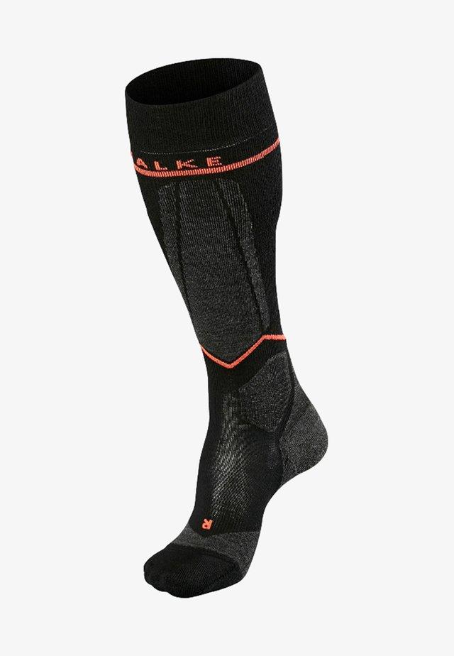 ENGERGIZING - Knee high socks - black/red