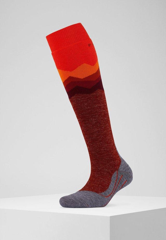 SK2 CREST - Knee high socks - samba orange