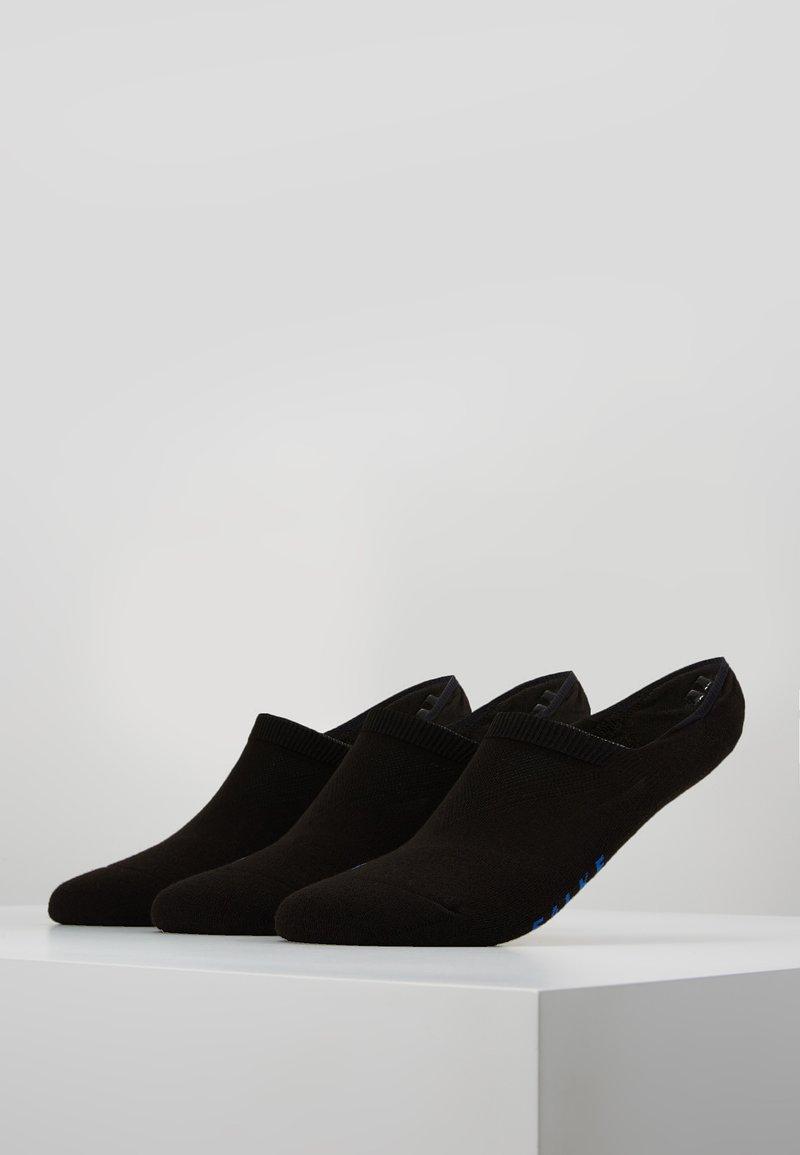 Falke - COOL 3 PACK - Füßlinge - black