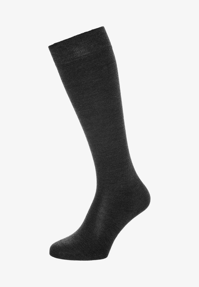 Knee high socks - anthracite melange