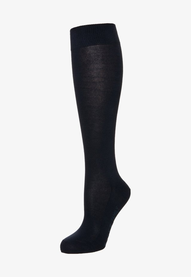 Knee high socks - dark navy