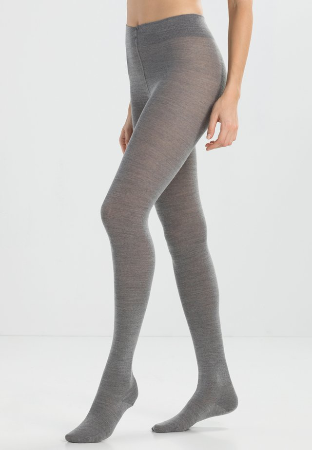 Strumpfhose - light grey melange