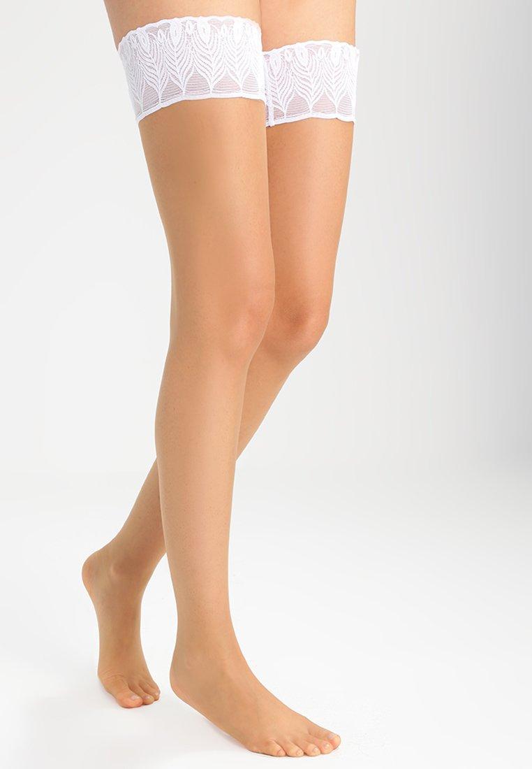 Falke - LUNELLE 8 DEN  - Over-the-knee socks - pow/white
