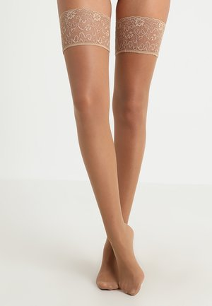 SEIDENGLATT 15 DEN - Over-the-knee socks - powder