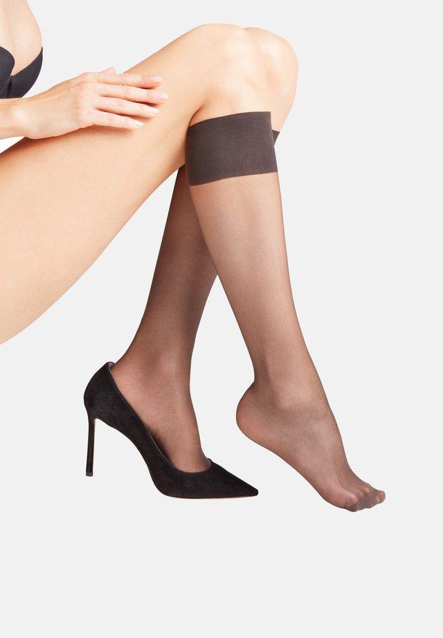 Knee high socks - anthracite (3529)
