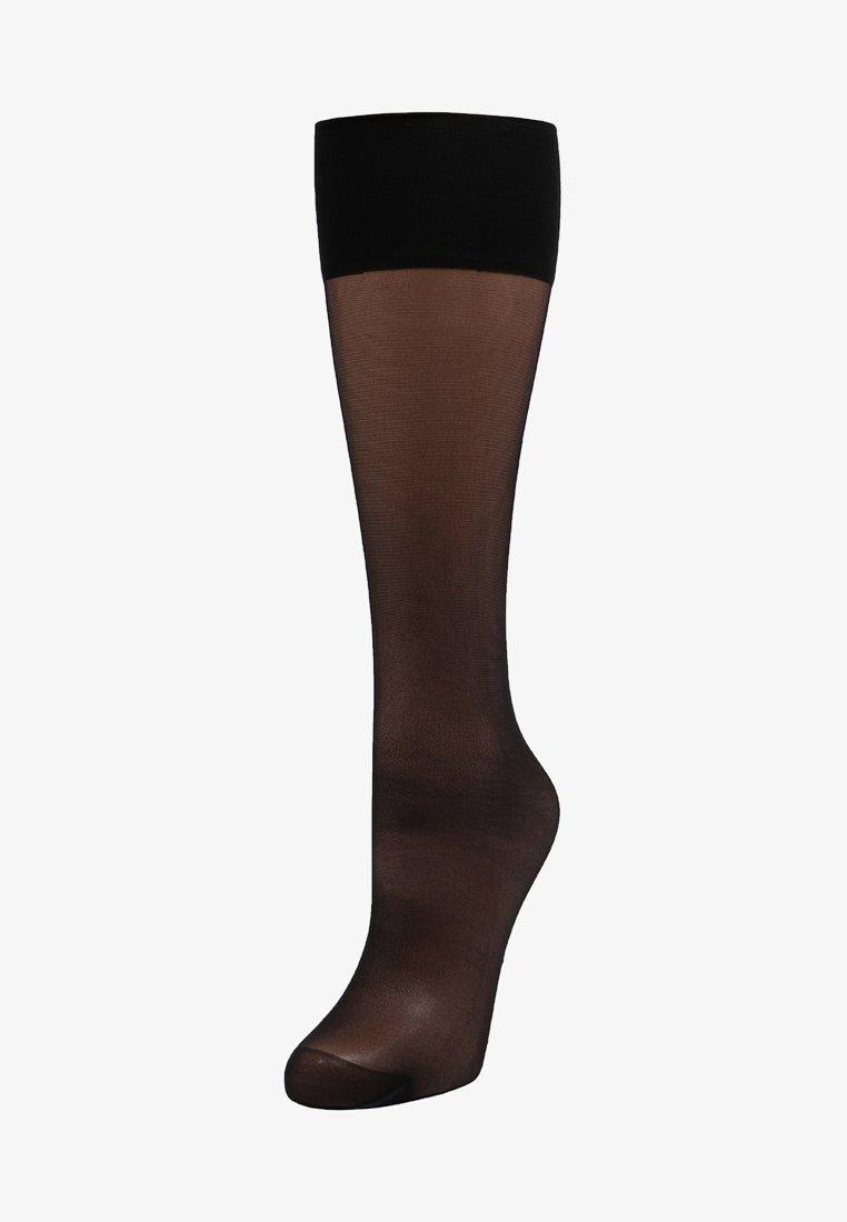 Falke - SEIDENGLATT 15 DEN  - Chaussettes hautes - black
