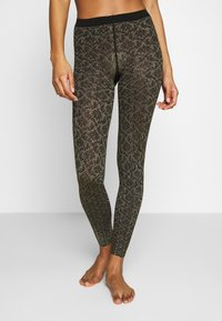 Falke - GOLDEN HOUR - Leggings - black/gold - 0
