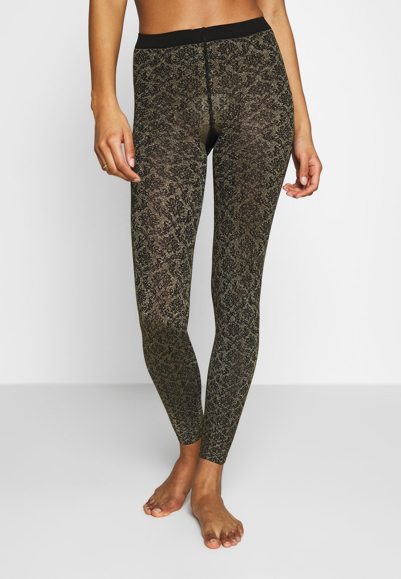 Falke - GOLDEN HOUR - Leggings - black/gold