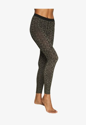 GOLDEN HOUR - Leggings - black/gold