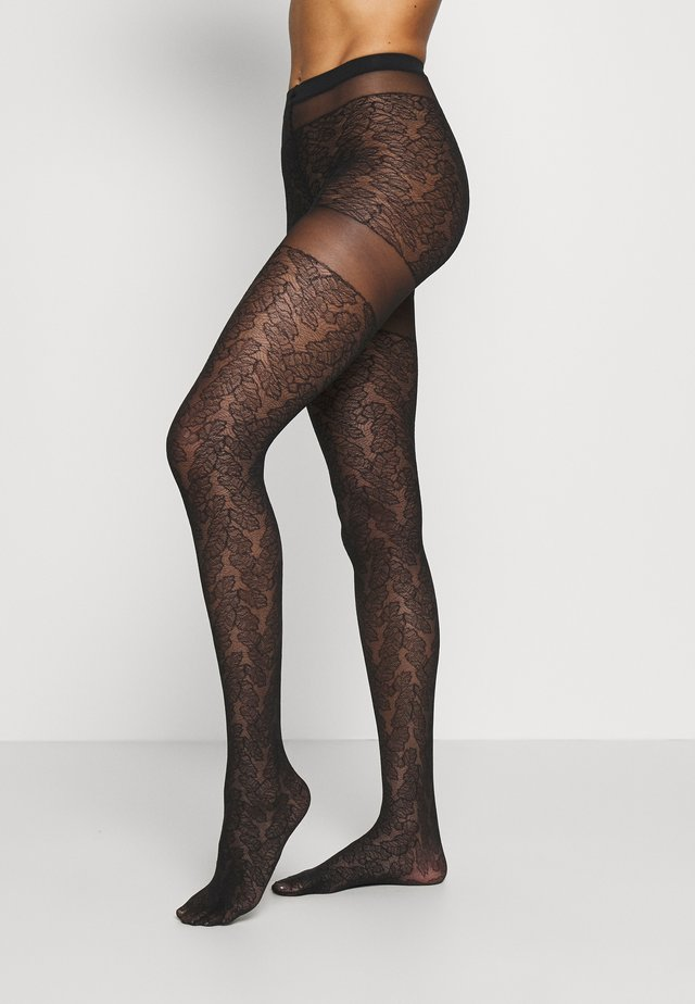 LEAVES DREAM - Collants - black
