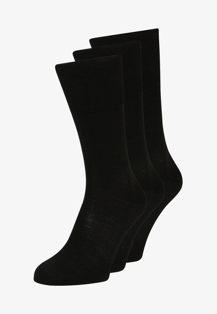 Falke - AIRPORT 3 PACK - Sokken - black