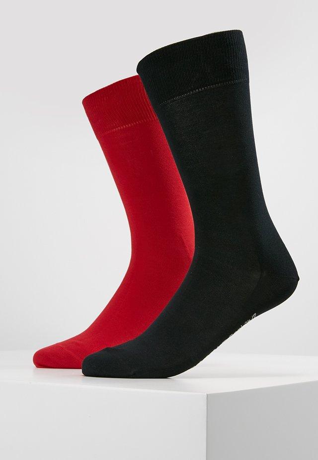 2 PACK COOL  - Ponožky - dark blue/red