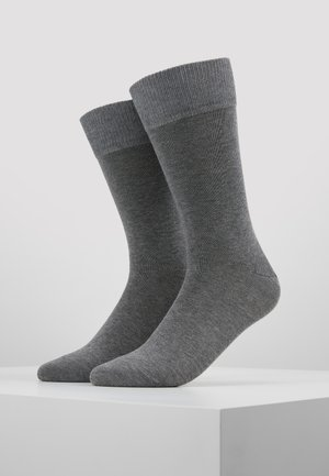 Happy 2-Pack Socks - Socks - mottled grey