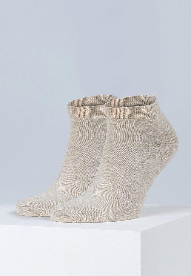 Happy 2-Pack Sneakersocks - Socks - beige