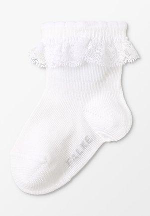 ROMANTIC LACE - Ponožky - white