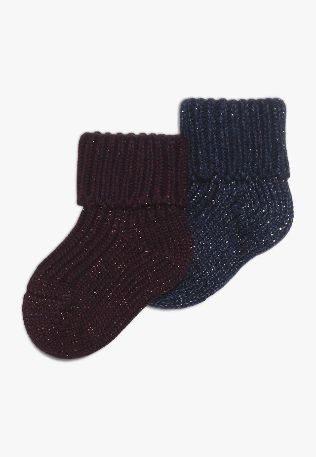 BABY 2 PACK - Socks - grape/dark blue