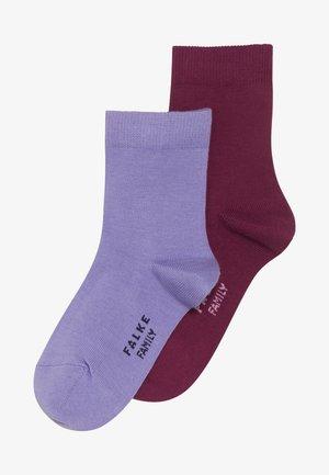 FAMILY 2 PACK - Ponožky - red plum/fingerhut