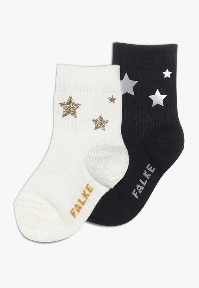 BABY STARS PRINT 2 PACK - Socks - dark navy/offwhite