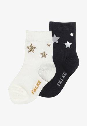 BABY STARS PRINT 2 PACK - Ponožky - dark navy/offwhite