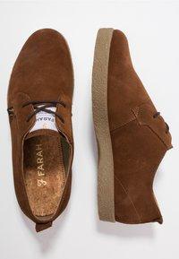 Farah - SAWYER - Volnočasové šněrovací boty - cognac - 1
