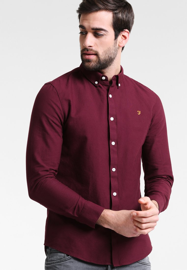Farah - BREWER SLIM FIT - Camicia - bordeaux