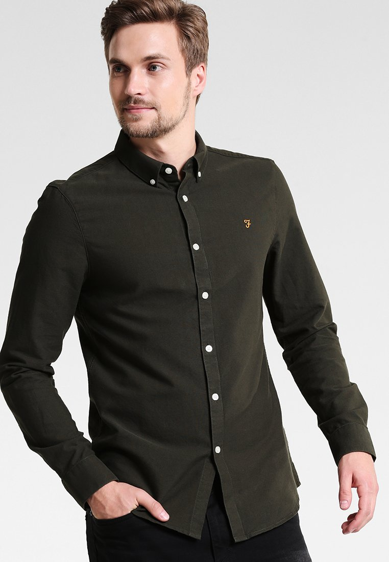 Farah - BREWER SLIM FIT - Skjorter - evergreen