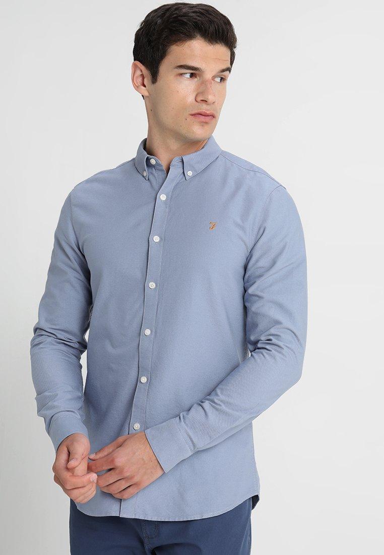 Farah - BREWER - Shirt - steel blue