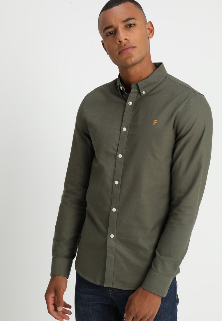 Farah - BREWER - Shirt - military green