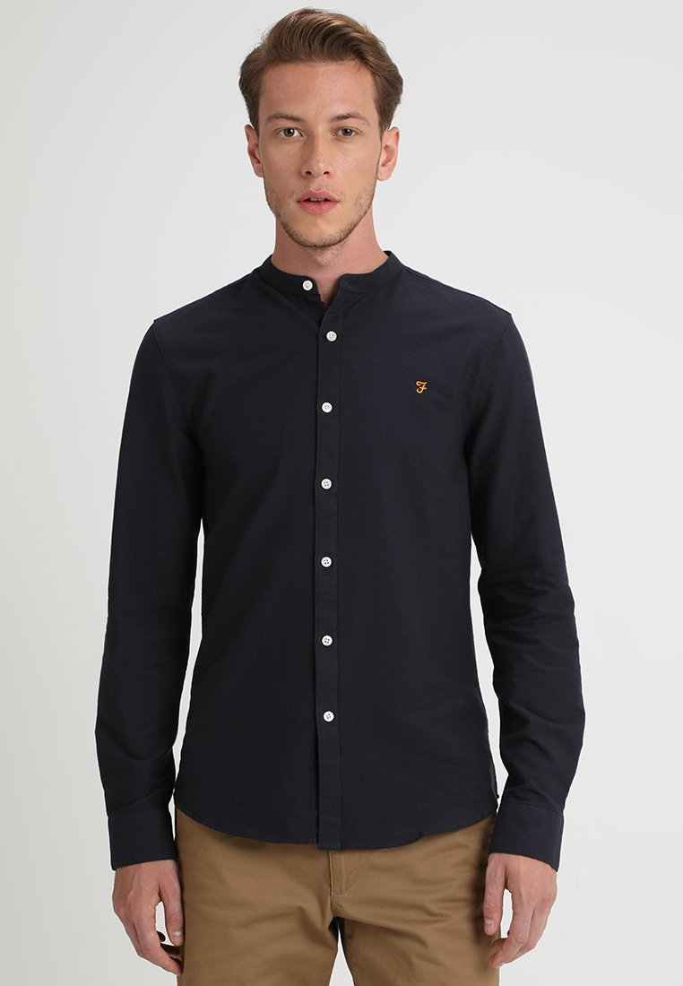 Farah - BREWER GRANDAD - Shirt - navy