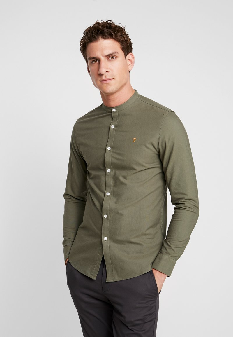 Farah - BREWER GRANDAD - Shirt - military green