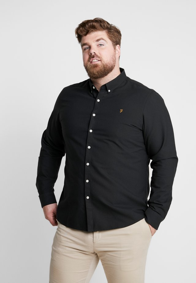 BIG AND TALL BREWER SLIM  - Shirt - black