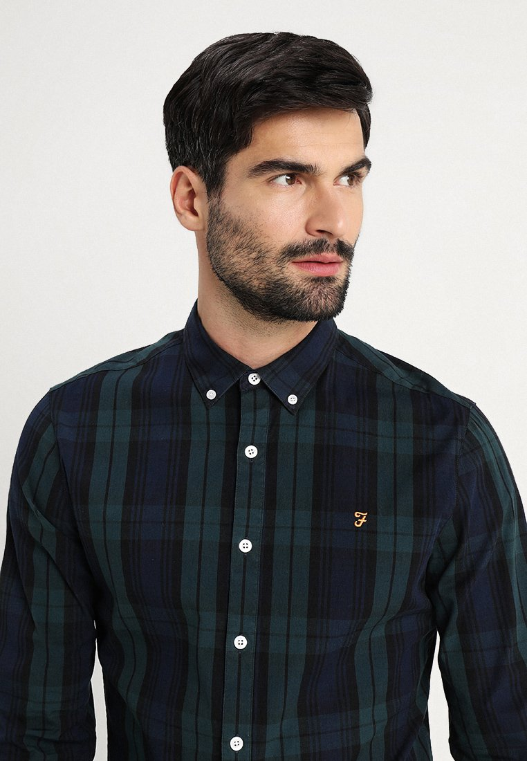 Farah New Brewer Check - Chemise True Navy