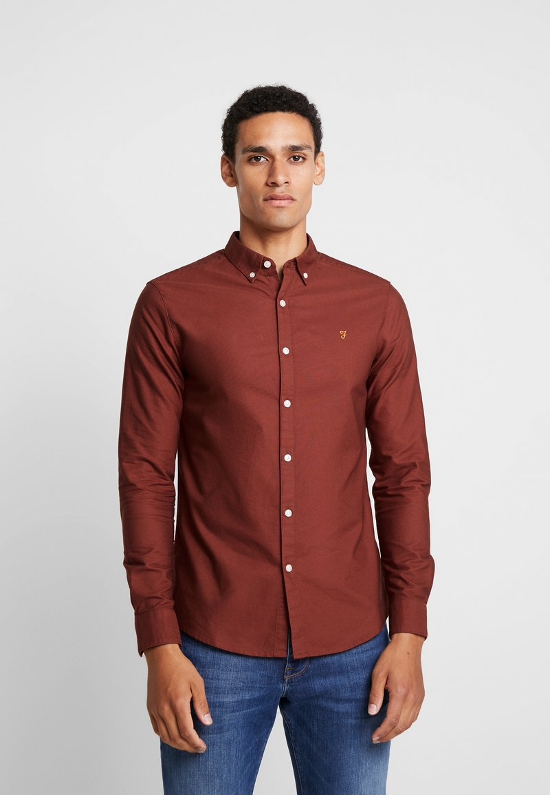 Farah - BREWER SLIM FIT - Skjorter - burnt red