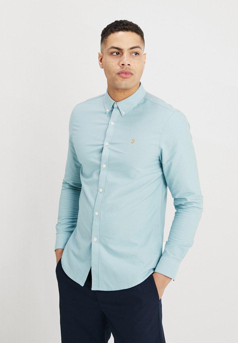 Farah - BREWER SLIM FIT - Hemd - light turquoise