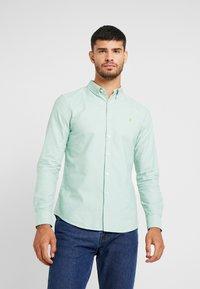 Farah - BREWER SLIM FIT - Overhemd - green mist - 0