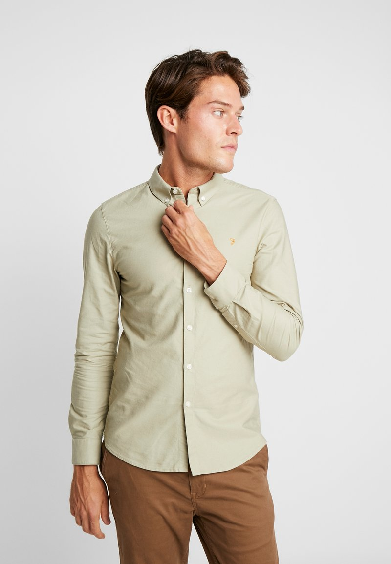 Farah - BREWER SLIM FIT - Hemd - sandstone