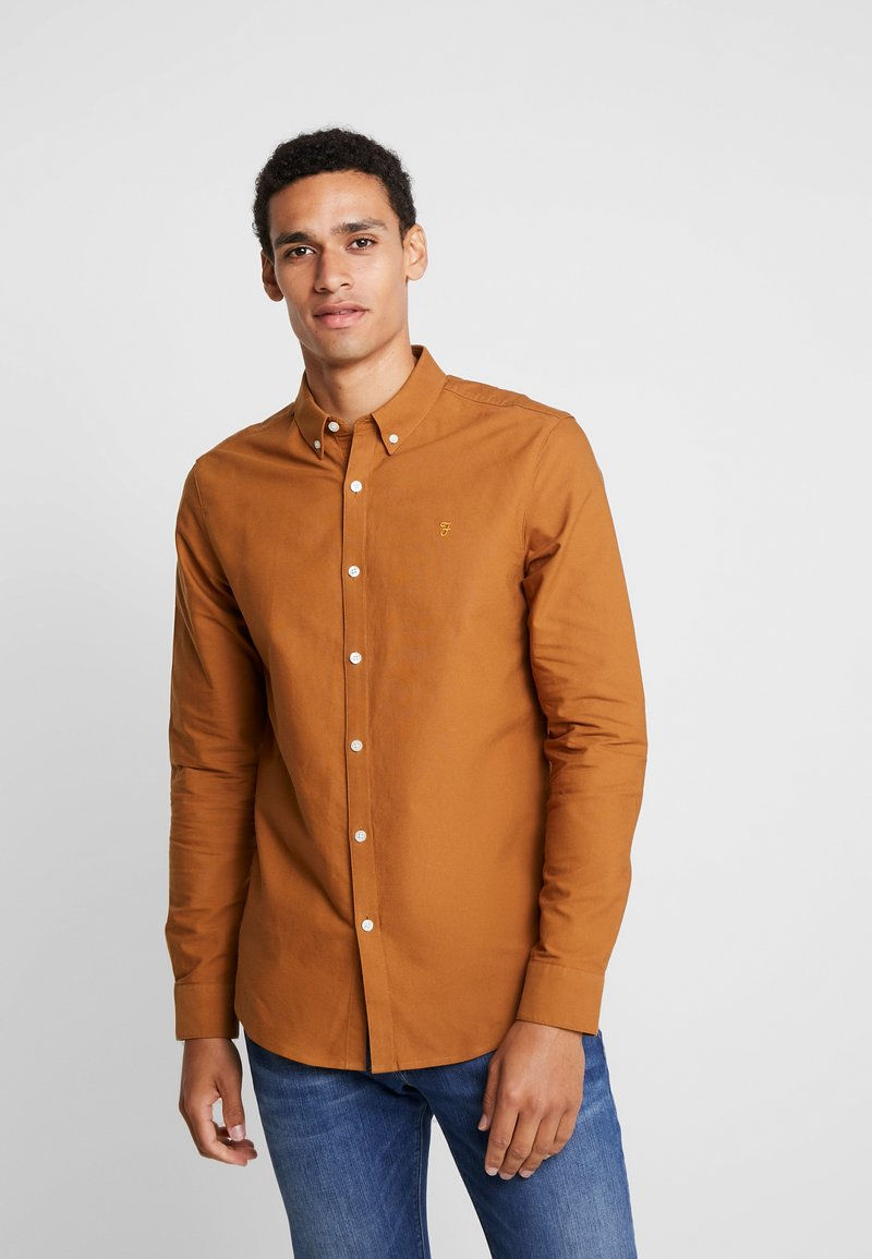 Farah - BREWER SLIM FIT - Shirt - spanish brown
