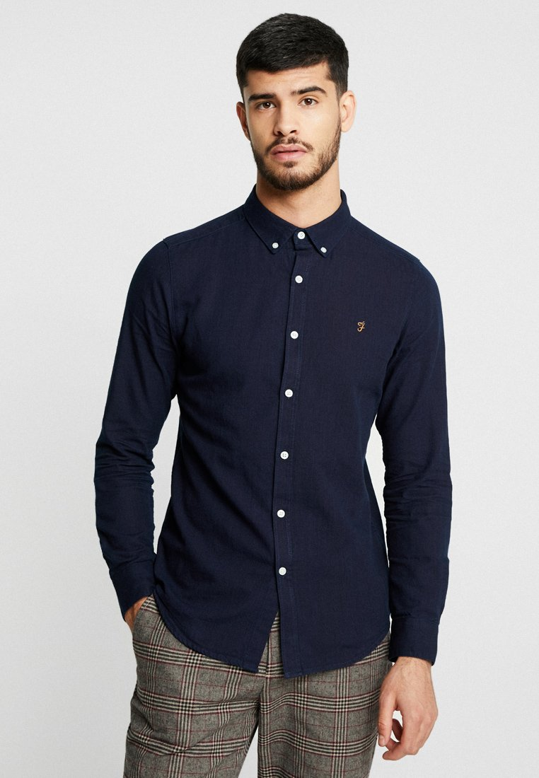 Farah - BREWER SLIM FIT - Hemd - mid indigo
