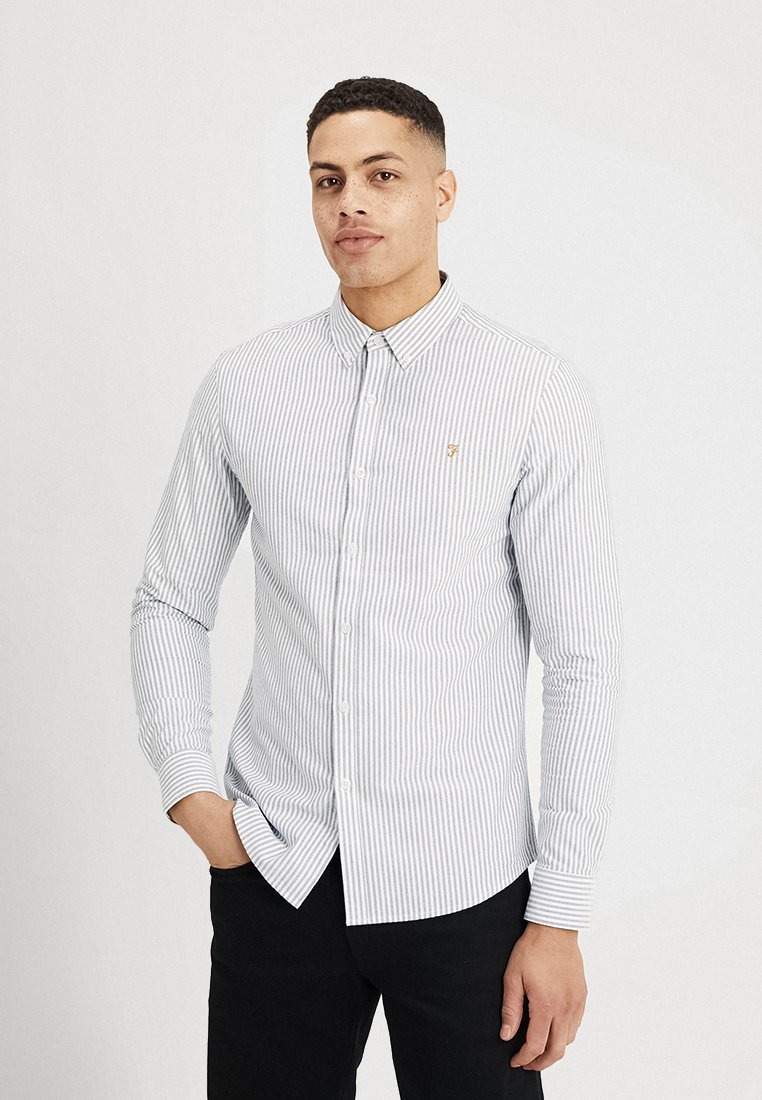 Farah - BREWER STRIPE - Shirt - true navy