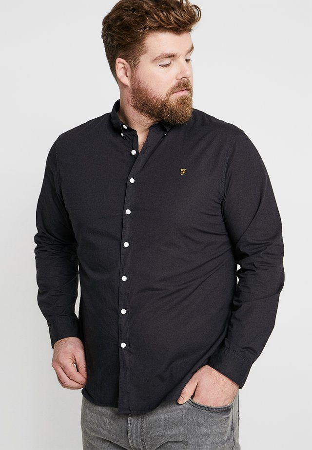 PLUS SIZE FARLEY SLIM FIT - Skjorta - deep black