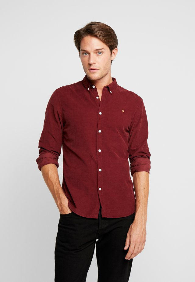 FONTELLA SLIM FIT - Skjorta - burnt red