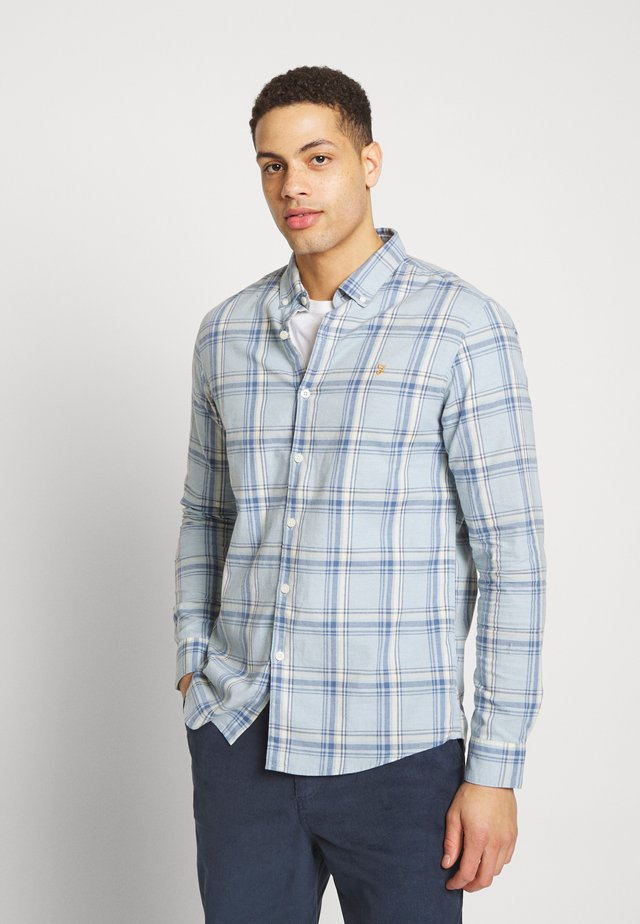 STEEN CHECK - Shirt - blue
