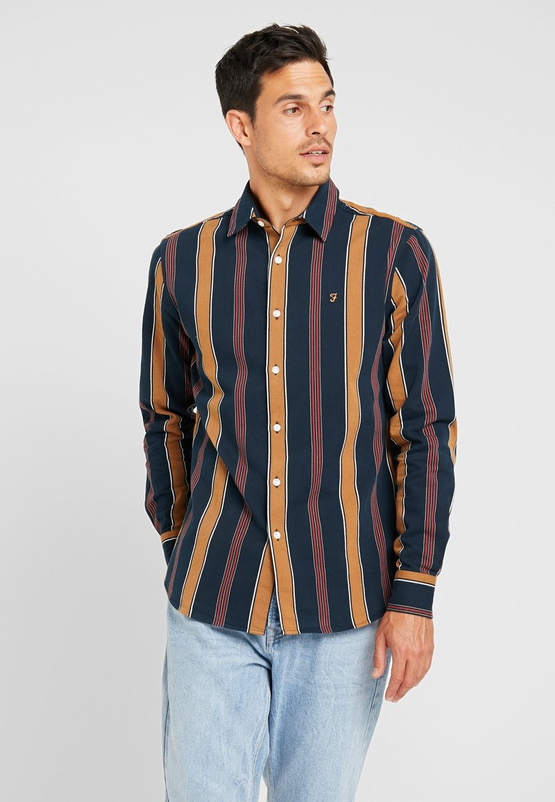 Farah - STRIPE - Camicia - true navy