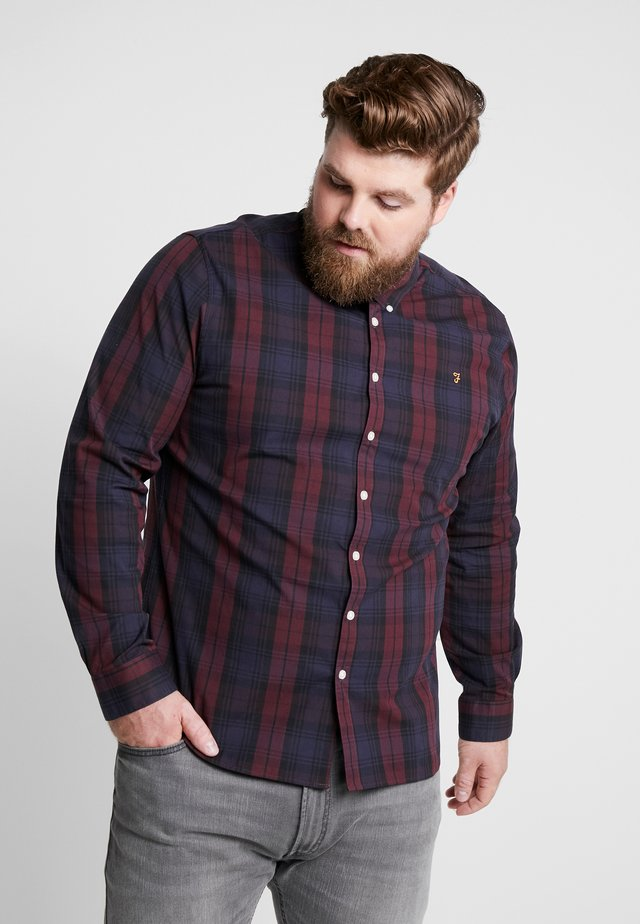 PLUS BREWER TARTAN - Skjorta - dark red