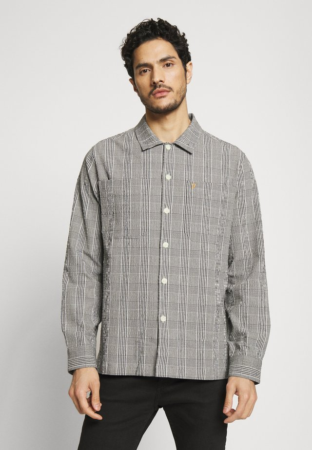 MCLENNAN CHECK SEERS - Shirt - black/white