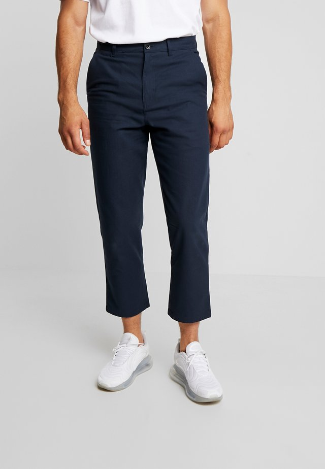 HAWTIN CROP HOPSACK - Chinos - true navy