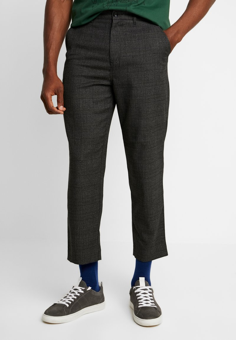 Farah - HAWTIN CROP POW CHECK - Trousers - charcoal