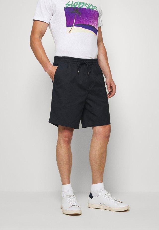 TREHURST HOPSACK - Shorts - true navy