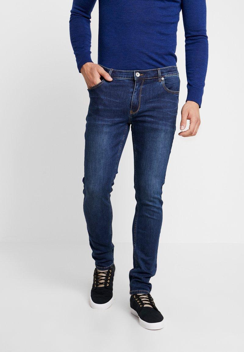 Farah - DRAKE STRETCH - Slim fit jeans - dark-blue denim