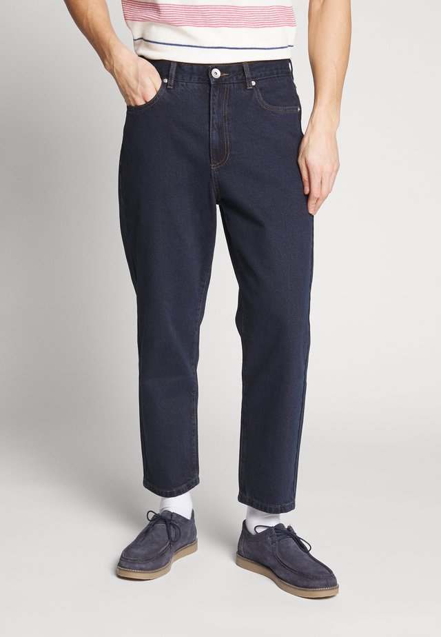 HAWTIN CROP - Jeans relaxed fit - rinse denim